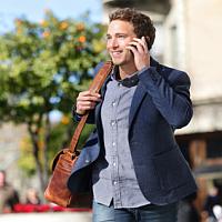 smartfon jako pomoc dla biznesmena